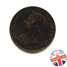 A 1898 British Bronze VICTORIA FARTHING coin               (Ref 1898:73/4)