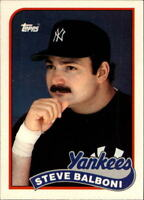 Lot Of 265 1989 Topps Traded Baseball Steve Balboni Card # 6T New York Yankees