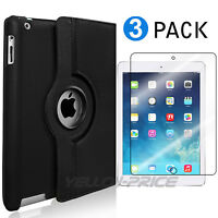 Leather 360 Rotating Smart Stand Case Cover For APPLE iPad2/3/4 Air1/2 Mini /Pro