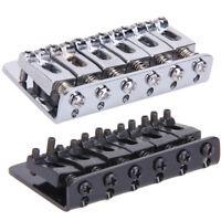 6 Saddle Hardtail Bridge Top Load 65mm Electric Guitar Bridge with 5 Screws #gib
