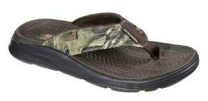 SKECHERS Men's Camouflage Thong or River Style Ankle Strap Sandals