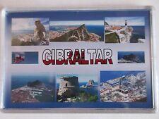 GIBRALTAR - JUMBO FRIDGE MAGNET -  St. Michael's Cave, Europa Point, Trafalgar C