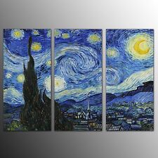 FRAMED Wall Art Canvas Print Home Decor Starry Sky Canvas Painting Print-3pcs
