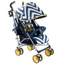 My Babiie MB02 Stroller in Blue Chevron  P2