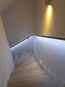 Edelstahlhandlauf mit LED Beleuchtung LED Handlauf, Handlauf mit LED 200cm