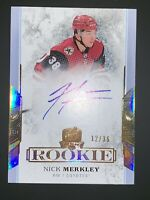 2017 2018 UPPER DECK THE CUP Nick Merkley GOLD AUTOGRAPH AUTO ROOKIE RC #12/36