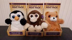 Big Eyes Wheat Microwave Heat Pack Lavender Scented Monkey Bear Penguin