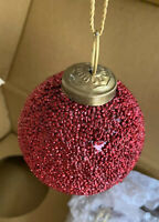 RESTORATION HARDWARE Christmas Ornaments - glass ball -  in original box 3""