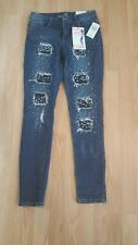 Almost Famous Mid Rise Insta-slim Jeans Womens Juniors size 7 Roll Up NWT