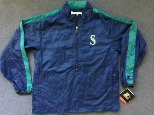 Seattle Mariners STARTER JACKET vtg NWT WATERPROOF pullover new golf jersey S M