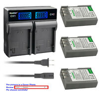 Kastar Battery LCD Rapid Charger for Nikon D40 D40x D60 D3000 D5000 & BG-2A Grip