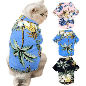 Fashion Dog Cat Shirt Pet Summer Clothes Hawaii Beach Holiday T-Shirt Apparel