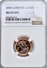 2004 Gold Half Sovereign NGC MS69 DPL  Great Britain 1/2 Sov UK TOP POP
