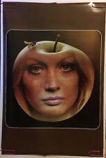 Apple Face Original Vintage Poster 1970's Pin-up Pretty Woman Music Art Beatles