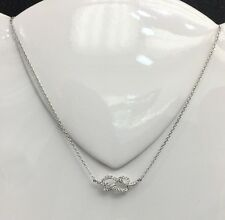 18k Solid White Gold Cute Pendant Genuine 0.42CT Diamond Necklace. Retail $3100.