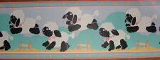 Nursery childerens Wallpaper Border Counting Sheep jumping 1-9