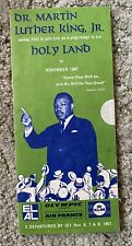 Dr. Martin Luther King Jr Original 1967 Pamphlet Trip To The Holy Land
