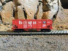 N Scale Micro trains 33' twin bay hopper CB&Q BURLINGTON RTE.  NIB