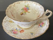 Coalport Floral and Gilt Cabinet Cup and Saucer.