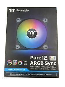 BRNAD NEW Thermaltake Pure 12 ARGB Sync TT Premium Edition Radiator Fan - 3 Pack