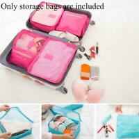 6 Stück Set Gepäck Organizer Koffer Aufbewahrungsbeutel Verpackung Beste Re K7V8