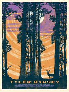 Tyler Ramsey (Band of Horses) Gig Poster, Fall Tour 2013 18 x 24' Print