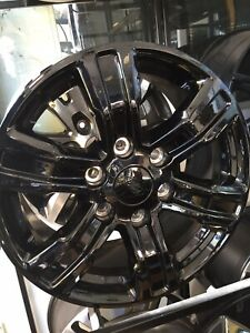 "4 X Genuine Ford Wildtrak Wheels  Gloss Balck (17"")."