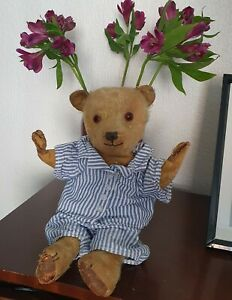 """Help Me! Repair/Restore - Chiltern Teddy Bear - Old Vintage Mohair - TLC 16"""""""