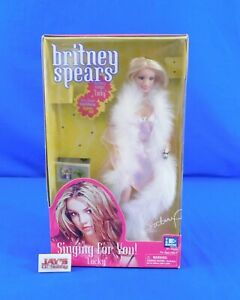 """Britney Spears """"Lucky"""" Singing for You Doll 2001 Yaboom Complete in Box"""