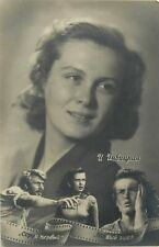 Russian movie star film soviet actress post card