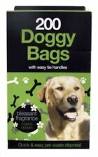 Doggy Bags Scented Pet Pooper Scoper Tie Handle Dog Cat Waste 200 400 800 1000