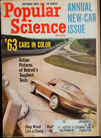 Popular Science Magazine October '62 Cars Space Boats Vintage tech diy details