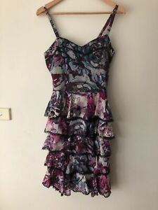 alannah hill 12 He Swore At Me Frock  Dress Frilly Worn Lined Sequins Worn Once