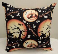 "16"" Throw Toss Sofa Pillow Cover Halloween Handmade USA multi color"