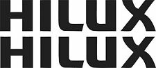 Hi Lux Stickers  2 x 275mm x 55mm Quality Marine Grade Material