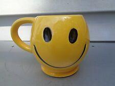 VINTAGE MCCOY POTTERY YELLOW SMILEY FACE MUG