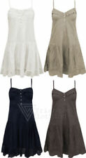 Boho Sleeveless Dresses for Women with Buttons