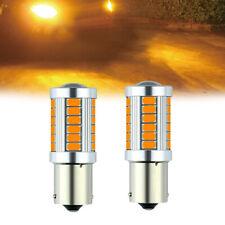2pcs 1156 BAU15S PY21W 33 SMD 5730 LED Bulbs Car Turn Signal Light Amber Lamp