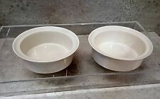 MICHAEL LAX PRIMARIES WHITE rimmed bowls x 2   8 available