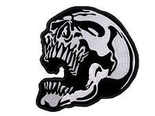 Aufnäher Aufbügler Totenkopf Schädel Skull Biker 18 x 21 cm Jacke Flagge