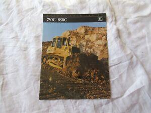 John Deere 750C 850C tractor dozer brochure