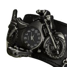 Orologio da polso quartzuhr bikeruhr Bracciale in pelle moto COLT NERO