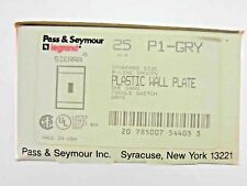 Lot of 25 Pass & Seymour Single Switch Wall Plates Gray P1-GRY USA #6do
