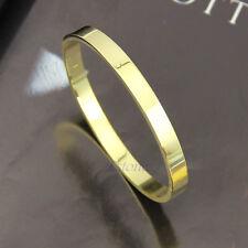 Men's Women's Stainless Steel Love Lover Polished Cuff Bangle Bracelet Wristband