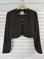 JOSEPH RIBKOFF sz 14 womens brown jacket [#831]