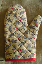 SOCK MONKEY Oven and Grill Mitt, Handmade, 100% Cotton, Quilted