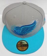 59 Fifty New Era Logo Motion 3 Detroit Cap / Hat (Grey / Blue) - NEW