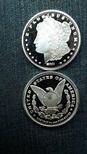 1 oz sunshine silver round Morgan Type .999 Pure Silver