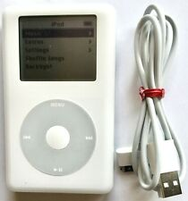 VINTAGE APPLE iPOD CLASSIC 4th GENERATION MP102 WHITE /SILVER 20 GB MUSIC PLAYER