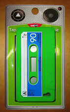 cassette tape soft silicone cover for apple  IPhone 4 4s Cas Green x 2 (Item 36)